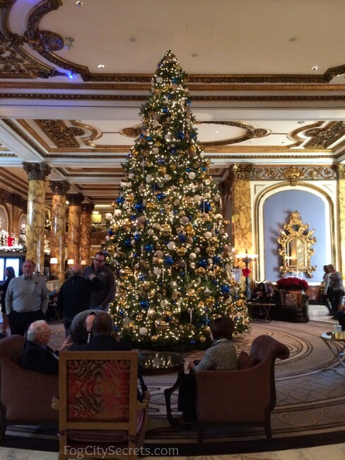 Christmas tree in the Fairmont Hotel lobby, San Francisco