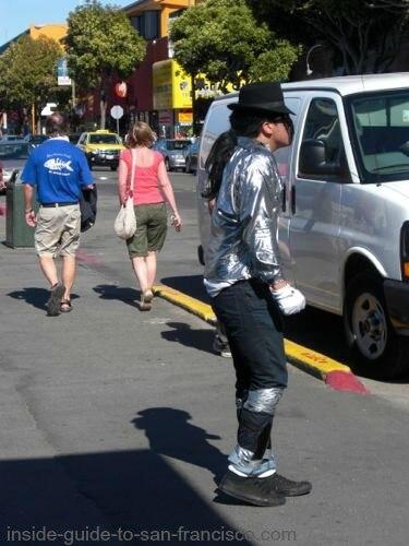 Michael Jackson performer at Fisherman's Wharf SF