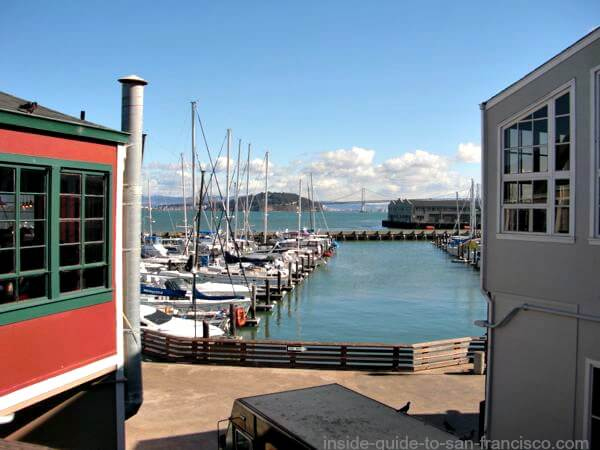 Pier 39 San Francisco, view of bay