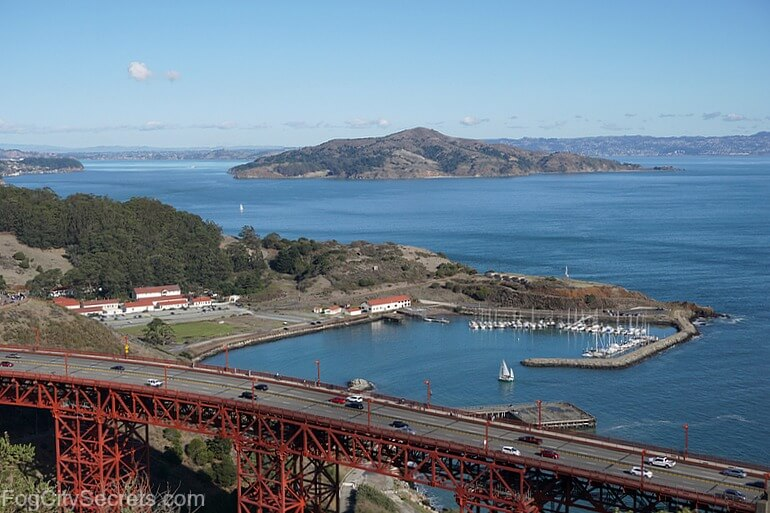 View of Fort Baker from the Marin Headlands