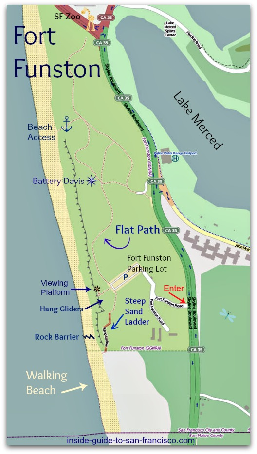 Fort Funston map, SF