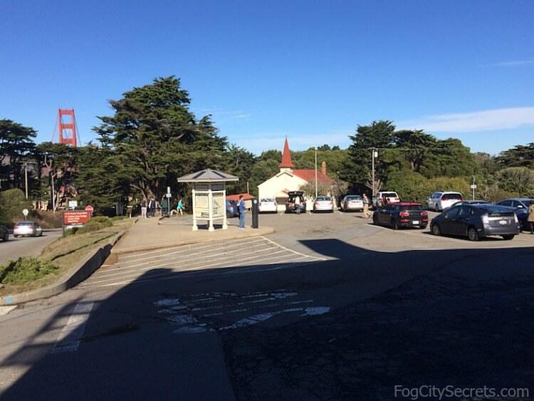 Fort Scott parking lot, Golden Gate Bridge