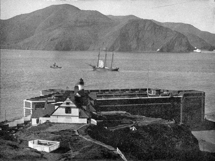 The Golden Gate straight, no bridge, 1891