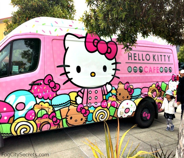 Hello Kitty Cafe pink van in San Francisco