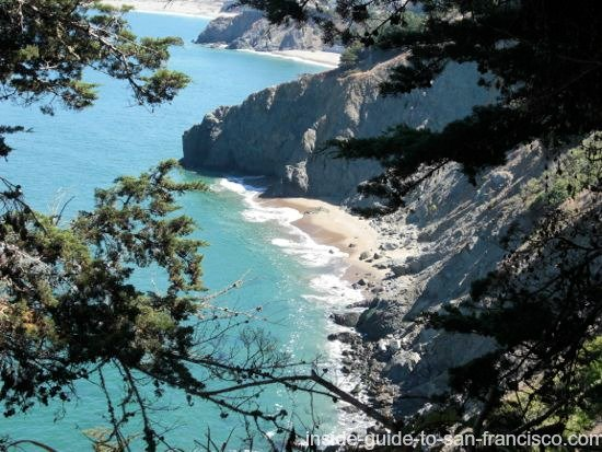 Lands End Coastal Trail view of hidden beach