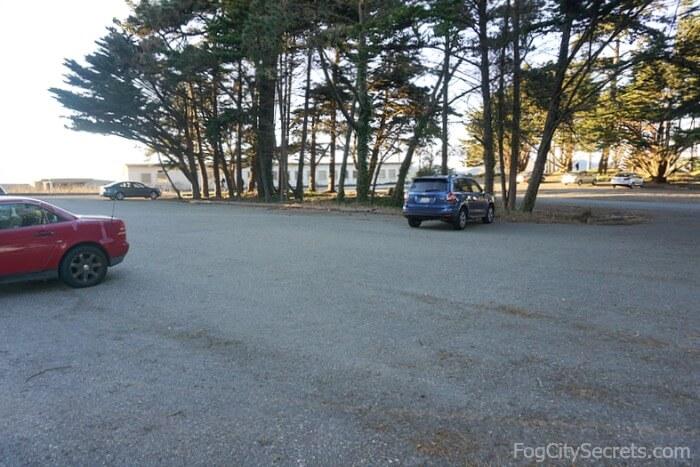 Langdon Court parking lot, near the Golden Gate Bridge