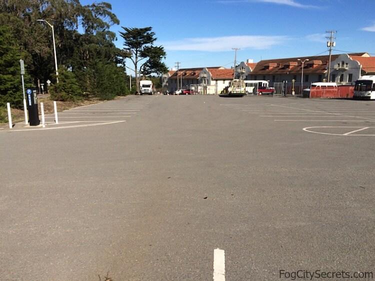 Lot D parking for the Golden Gate Bridge