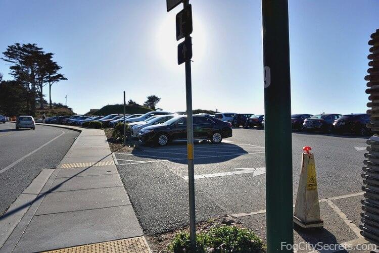 Merchant Road parking lot for the Golden Gate Bridge