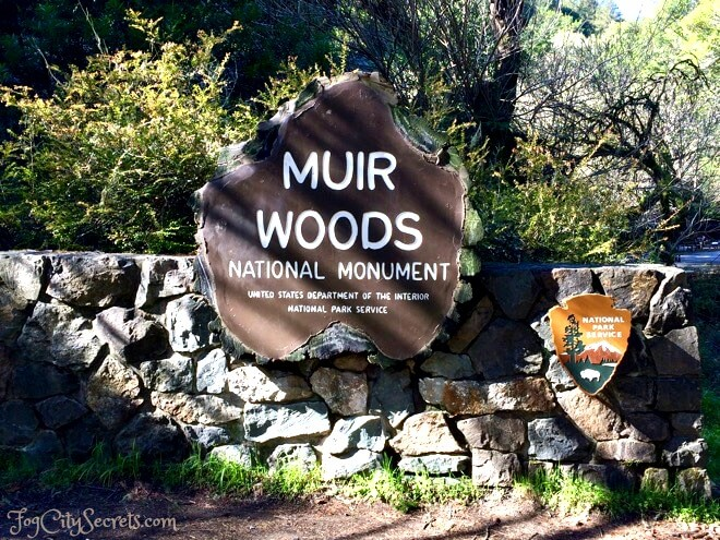 Muir Woods National Park entrance sign