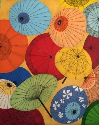 parasol mural in east mall, san francisco japantown