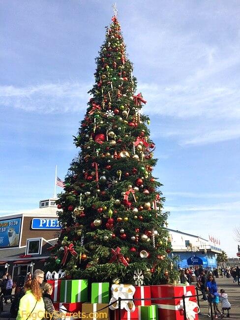 Christmas tree at Pier 39, San Francisco