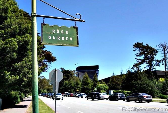 Rose Garden sign, Golden Gate Park