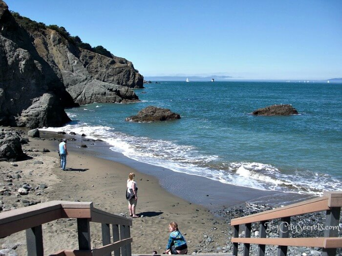 san francisco beaches, stairs down to china beach