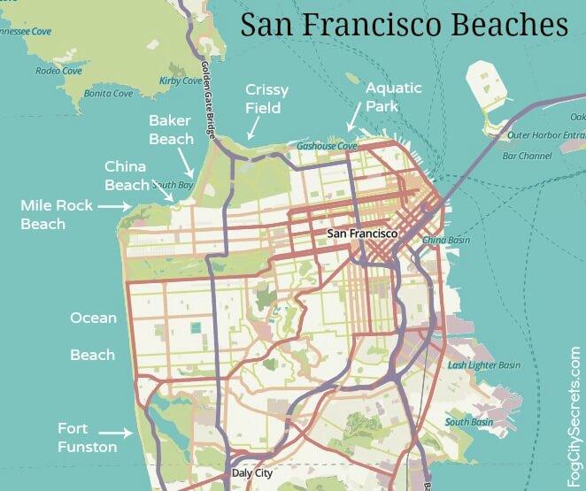 San Francisco Beaches. Beaches in San Francisco? You bet! on sf bus schedule, sf train map, sf mta map, sf bar map, sf parking map, sf bus lines, sf walking map, sf bart map, sf art map, sf district map, san francisco map, sf metro map, sf tour map, sf bus tour, sf street map, sf airport map, sf cartoon map, sf hospital map, sf muni map,