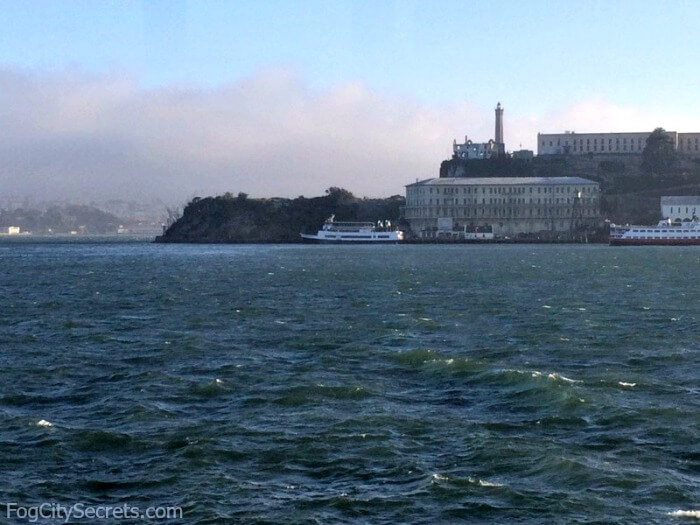 View of Alcatraz on San Francisco dinner cruise