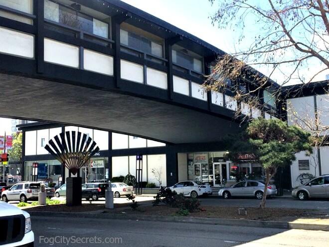 san francisco japantown, webster street bridge connecting malls