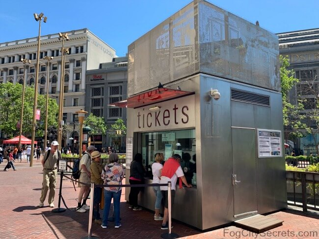 Ticket booth at San Francisco's  Powell and Market Street cable car turnaround