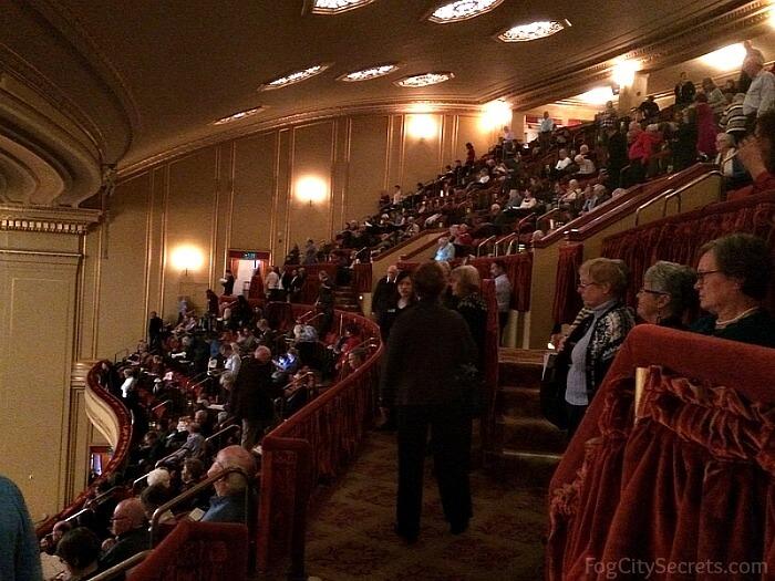 Balcony seating at the SF Opera