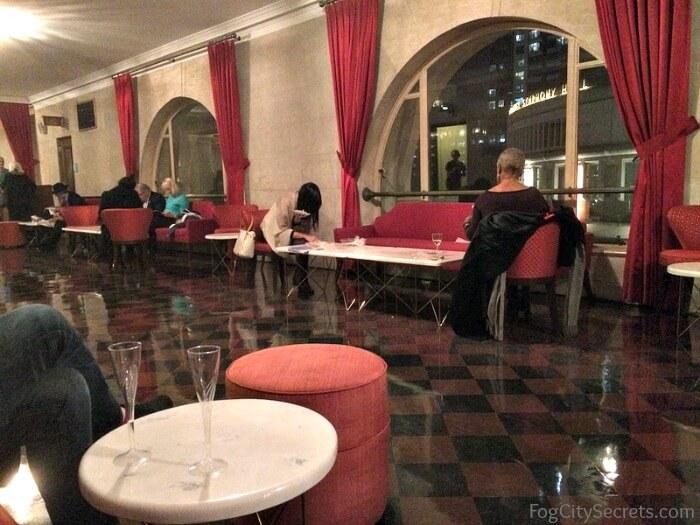 Comfortable seating at SF Opera, Dress Circle Lounge area