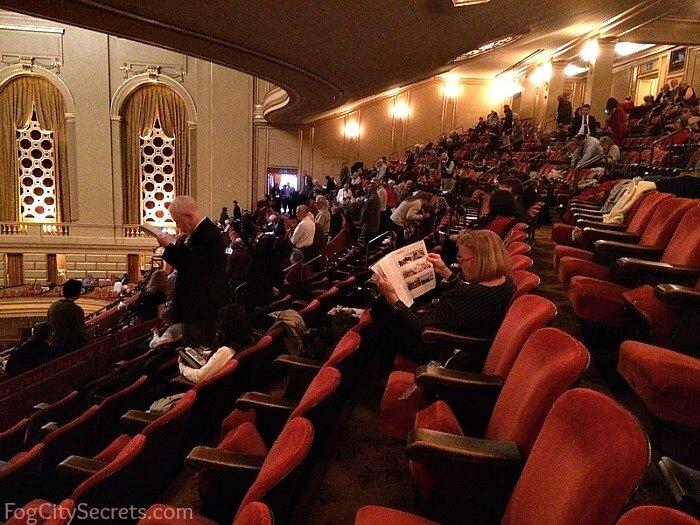 Dress Circle seating at the SF Opera