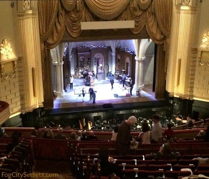 View from Dress Circle, SF Opera.