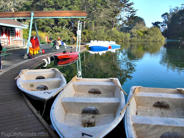 Rowboats for rent at Stow Lake, Golden Gate Park, SF