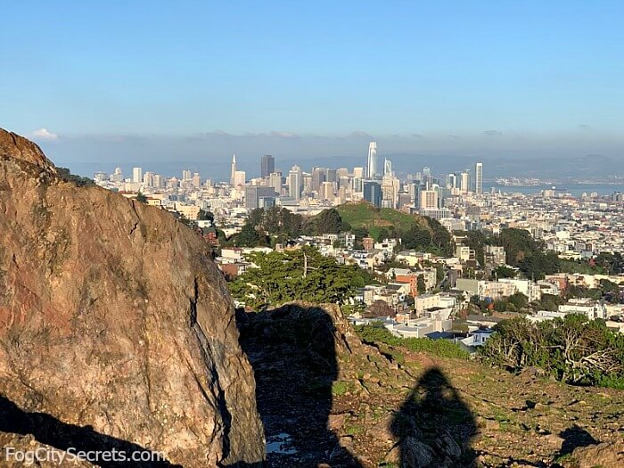 View of downtown San Francisco from Tank Hill