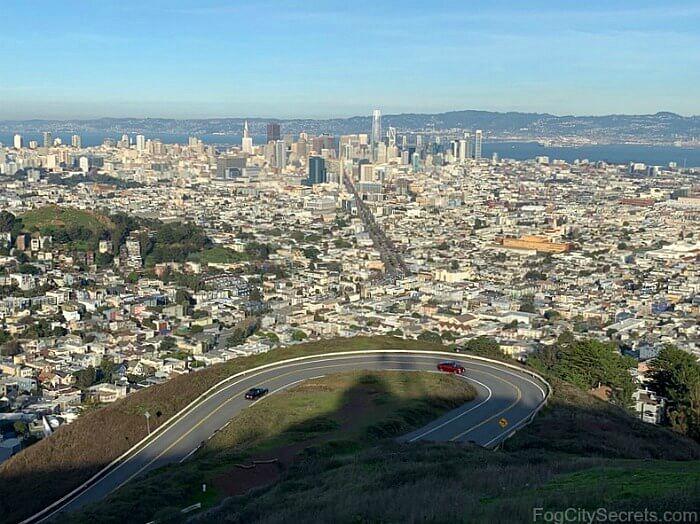 Twin Peaks San Francisco panoramic city view