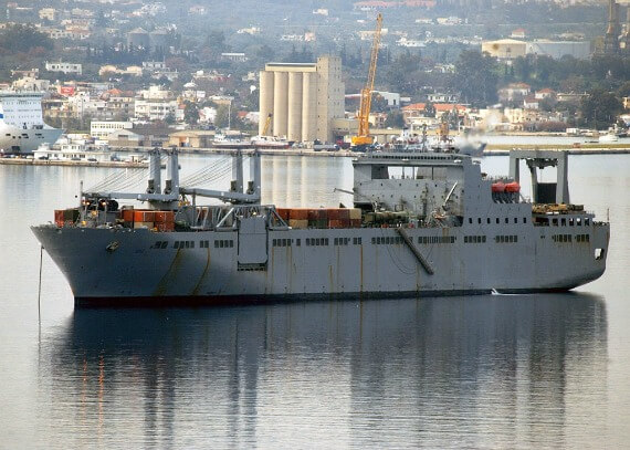 USNS supply ship, Bob Hope