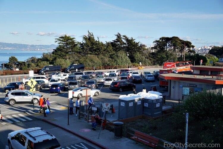 Welcome Center parking lot, Golden Gate Bridge